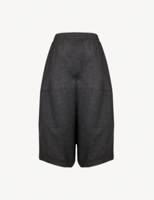 COMME COMME DES GARCONS Wide-leg cropped wool trousers