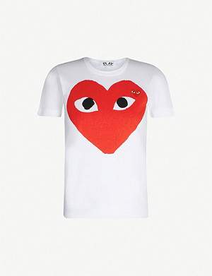 COMME DES GARCONS PLAY Big Red Heart cotton-jersey T-shirt