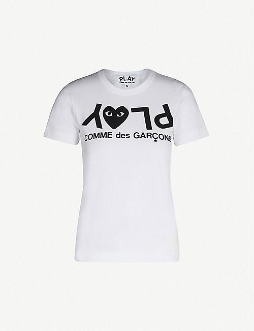 COMME DES GARCONS PLAY Reverse logo-print cotton-jersey T-shirt 98ba7172be