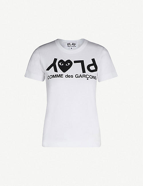 Comme Des Garcons Play Tops Clothing Womens Selfridges