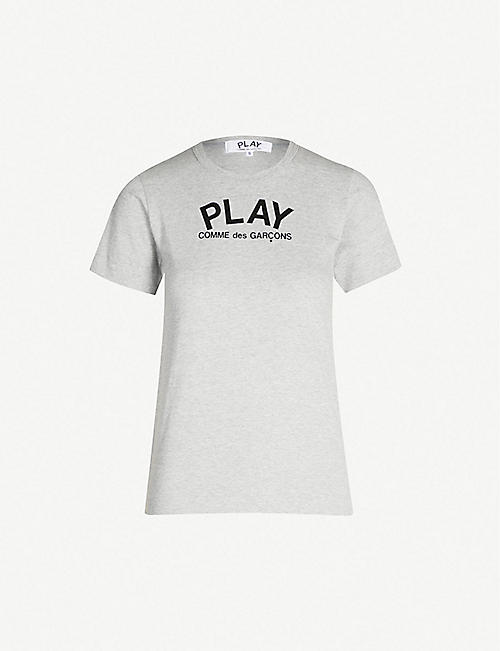 ad1980bf7c7 COMME DES GARCONS PLAY Heart-print cotton-jersey T-shirt