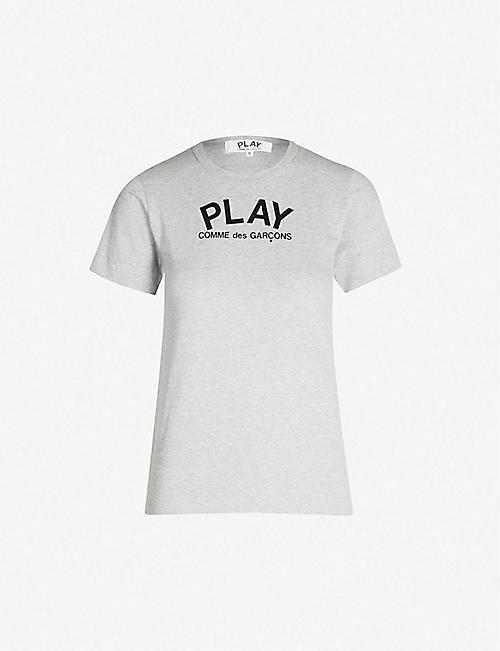0048222de59 COMME DES GARCONS PLAY Heart-print cotton-jersey T-shirt