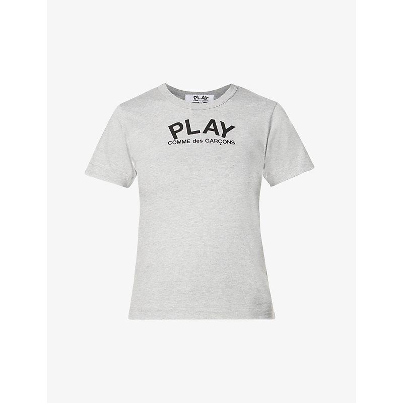 COMME DES GARÇONS PLAY   Heart-Print Cotton-Jersey T-Shirt   Goxip