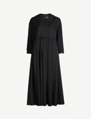 COMME COMME DES GARCONS Lace-trimmed wool dress