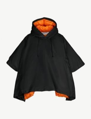 COMME COMME DES GARCONS Hooded shell-down cape jacket