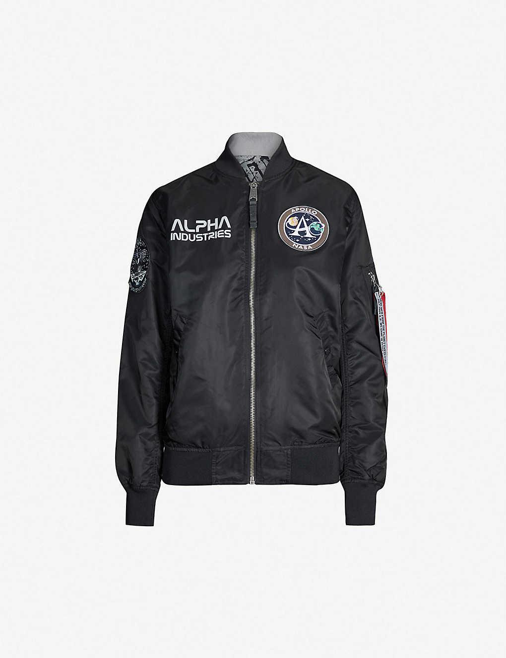 1c573caeabe5b4 ALPHA INDUSTRIES - MA-1 Moon Landing reversible shell bomber jacket ...