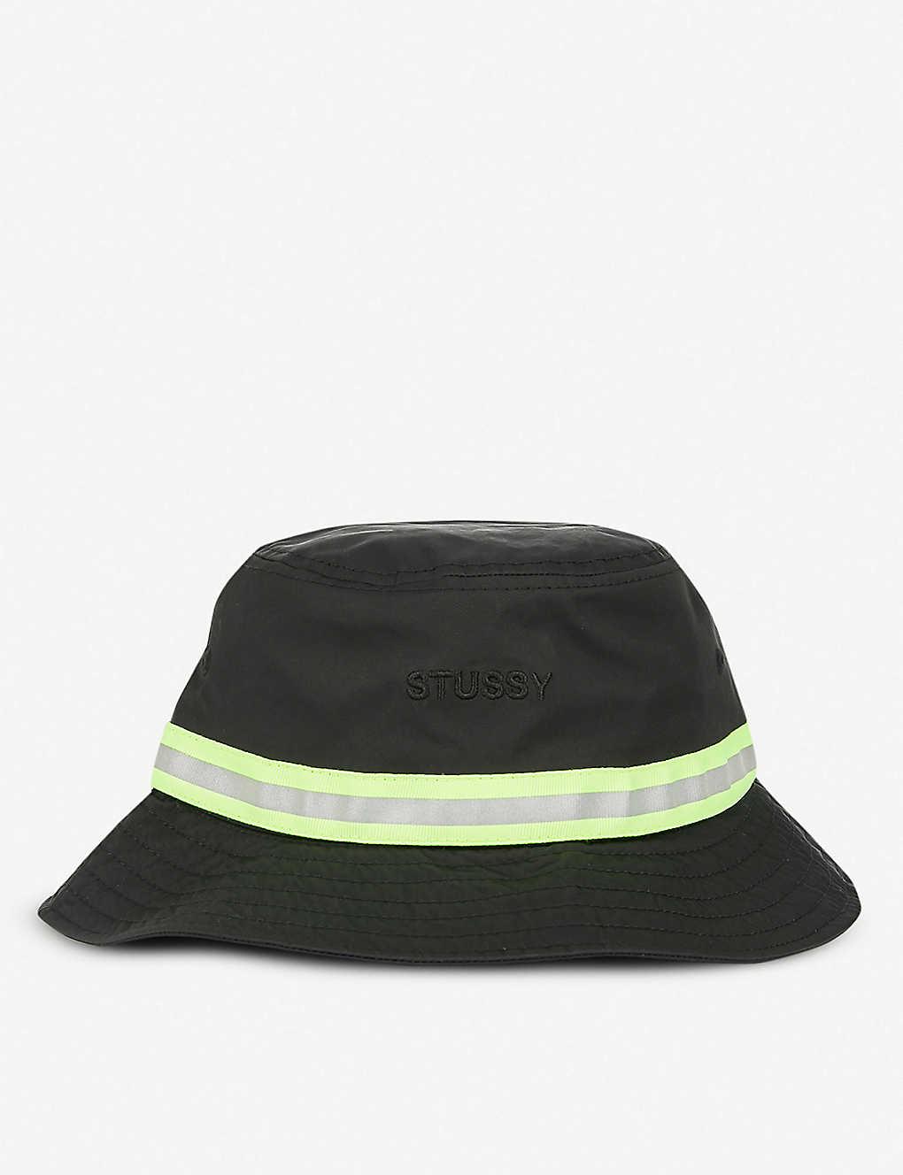 1c9b6341a30e0 STUSSY - Reflective Tape woven bucket hat