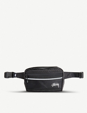 STUSSY Diamond-patterned mesh belt bag