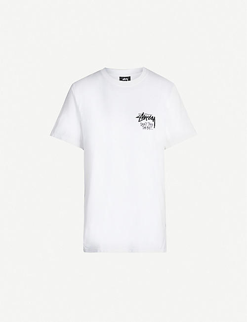 STUSSY Don't Take The Bait cotton-jersey T-shirt
