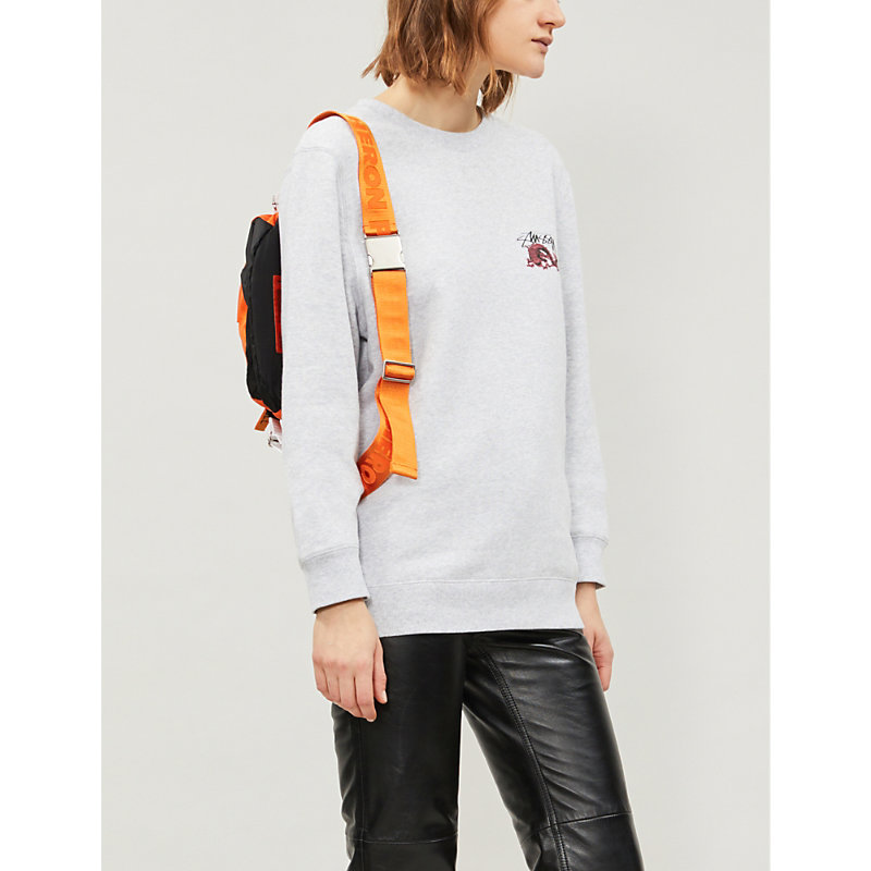 STUSSY | Dragon Cotton-Jersey Sweatshirt | Goxip