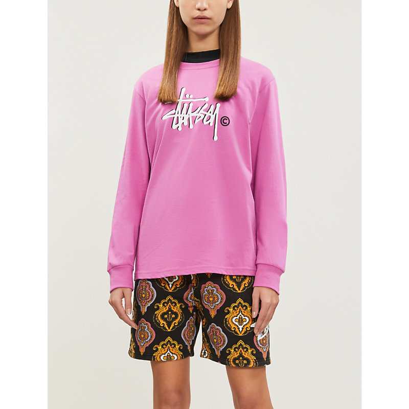 STUSSY | Paisley-Print Cotton-Jersey Shorts | Goxip