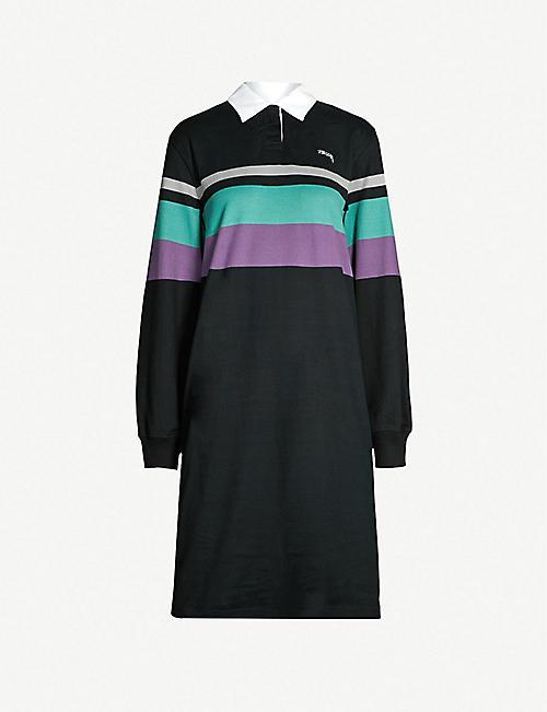 STUSSY Colour-block panel cotton-jersey dress 7ce228dcebb