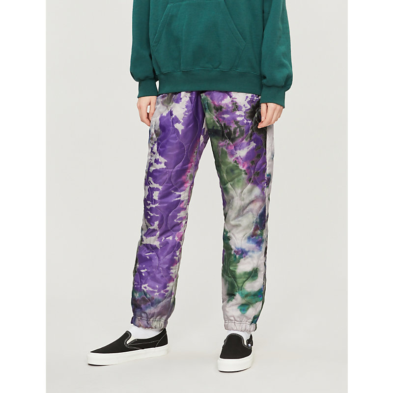 STUSSY | Quilted Reversible Printed Shell Trousers | Goxip