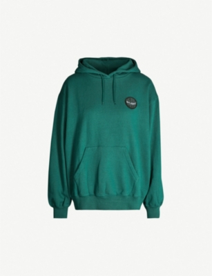 STUSSY Logo patch cotton-jersey hoody