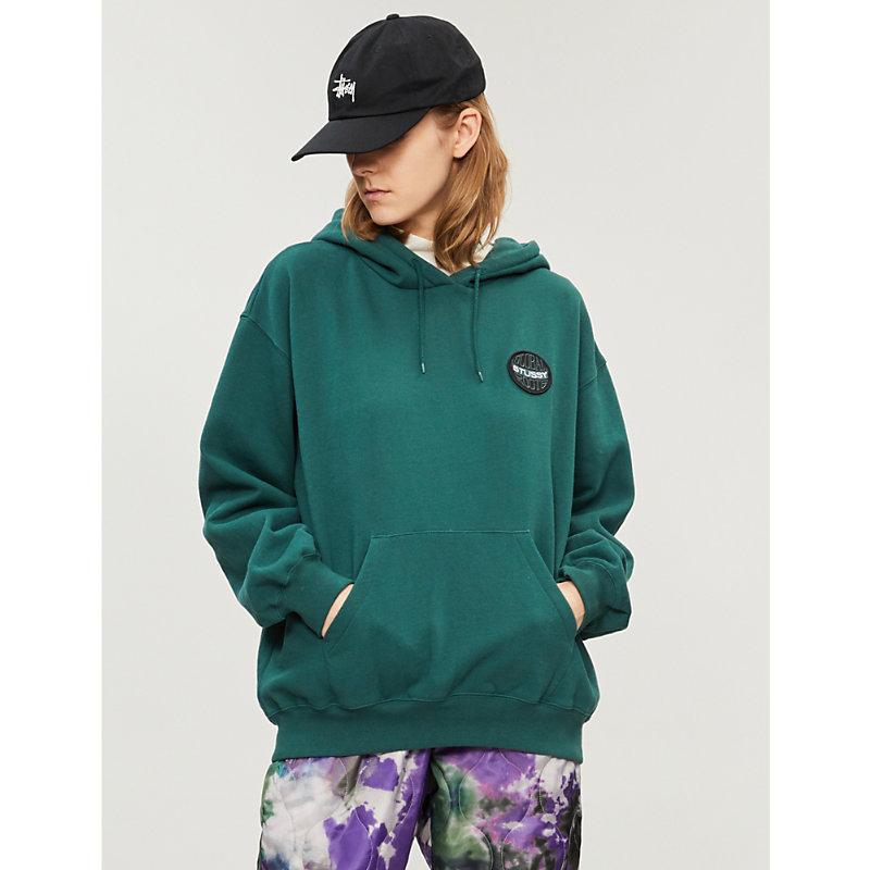 STUSSY | Logo Patch Cotton-Jersey Hoody | Goxip