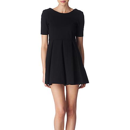 FOREVER UNIQUE Omega babydoll dress (Black