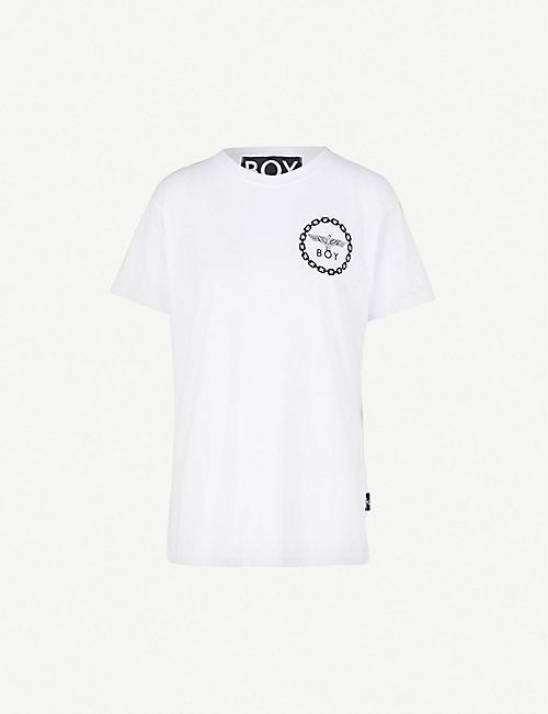 ef92735b2fce BOY LONDON Logo-print cotton-jersey T-shirt