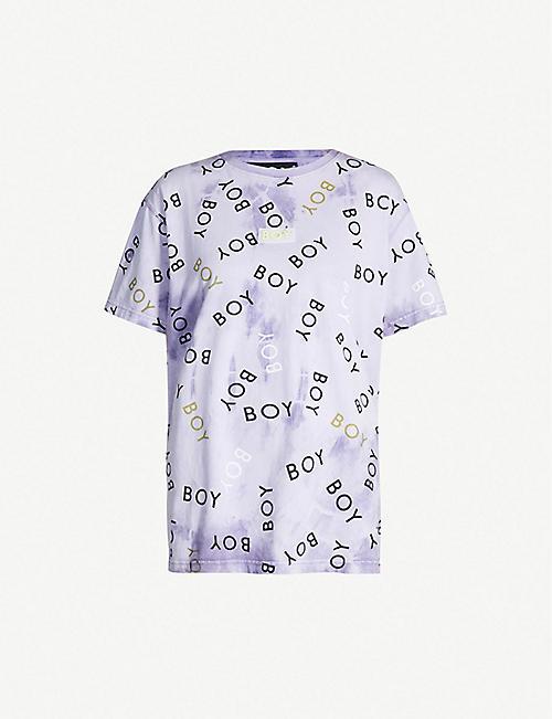 bd679368b1e8 BOY LONDON Logo-print tie-dye cotton-jersey T-shirt