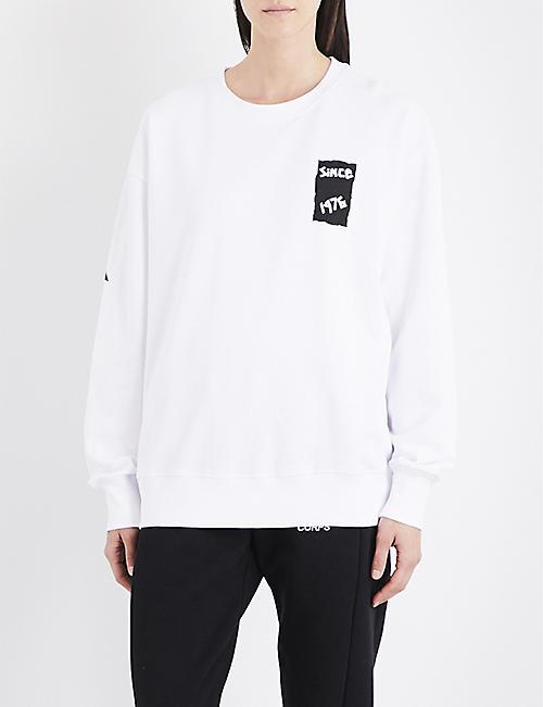 2766201d0451 BOY LONDON Eagle tape-print cotton-jersey sweatshirt