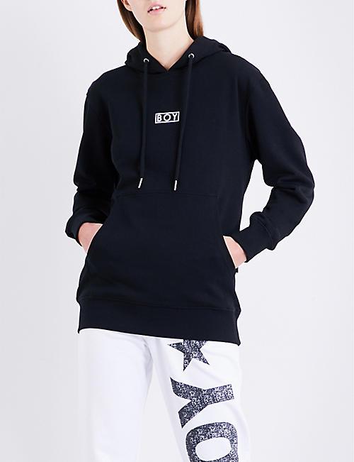 e7358dd35f04 BOY LONDON Flock Eagle cotton-jersey hoody