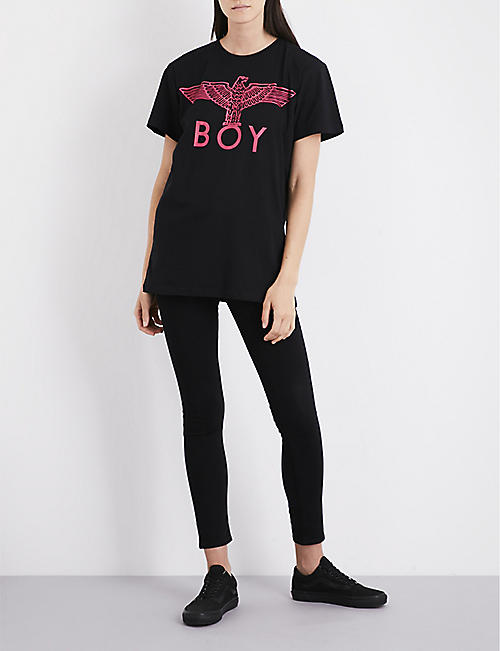 BOY LONDON Eagle cotton-jersey T-shirt