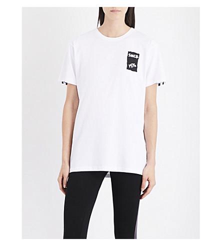 Boy London Eagle tape-print cotton-jersey T-shirt