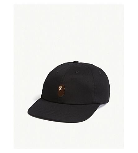 5644b4321de BAPE Ape head cotton strapback cap (Black