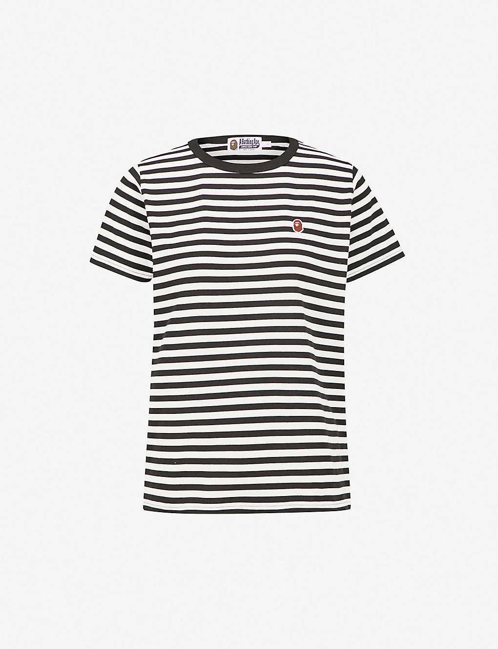 d50acd21 BAPE - Ape head striped cotton-jersey T-shirt | Selfridges.com