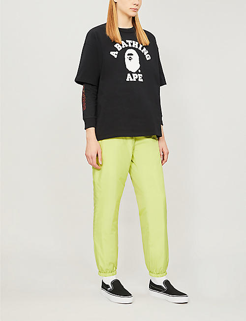 BAPE College logo-print cotton-jersey T-shirt