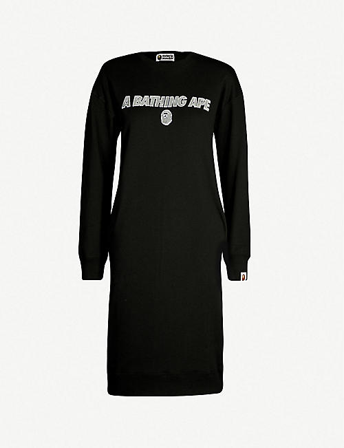 5d52228435c6 BAPE Sequin logo cotton-jersey dress