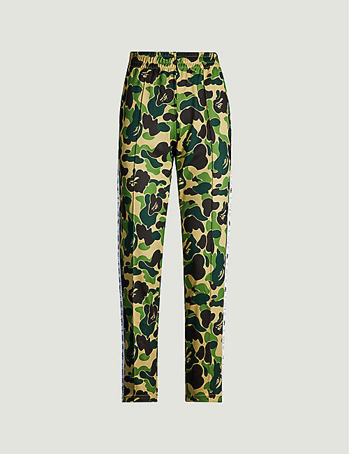 1796a1285 BAPE Camouflage tapered mid-rise woven jogging bottoms