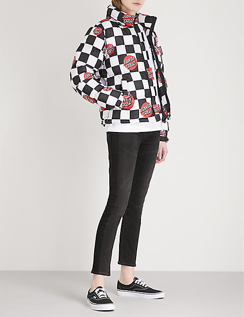 NONE Checker quilted shell jacket