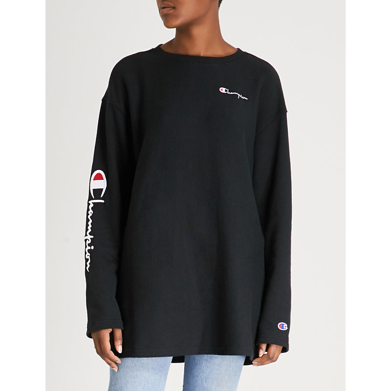 Logo-Embroidered Cotton-Jersey Sweatshirt, Nbk