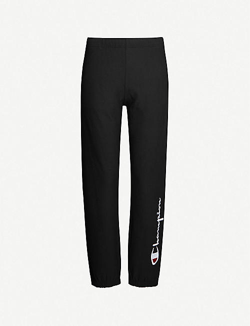 CHAMPION Logo-embroidered cotton-blend jogging bottoms