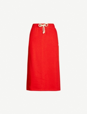 CHAMPION Drawstring-waist cotton-blend jersey skirt