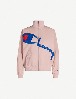 CHAMPION Logo-appliqué funnel-neck shell jacket