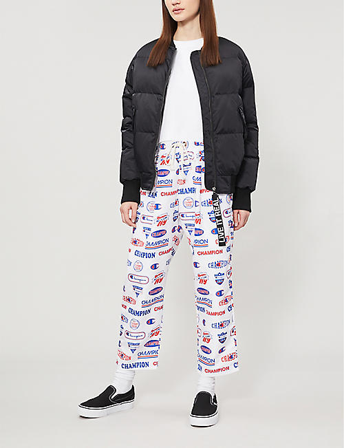 CHAMPION Logo-print shell jogging bottoms