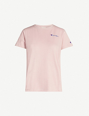 CHAMPION Logo-print cotton jersey T-shirt