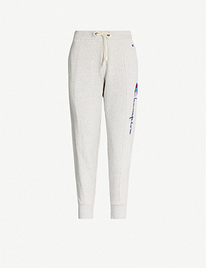 CHAMPION Logo-embroidered cotton-blend jersey jogging bottoms