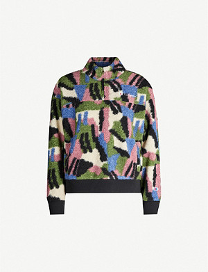 CHAMPION Graphic-print teddy jacket