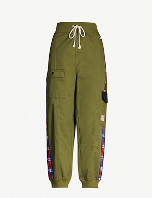 CHAMPION Logo-embellished twill cargo trousers