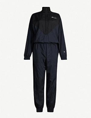 CHAMPION Logo-patch shell jumpsuit