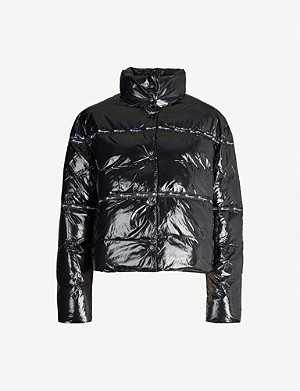 CHAMPION Brand-embellished shell puffer jacket