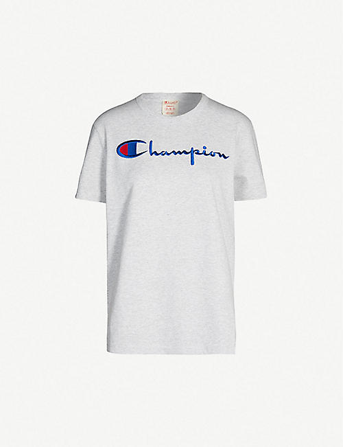 4c0b364f CHAMPION Logo-print cotton-jersey T-shirt