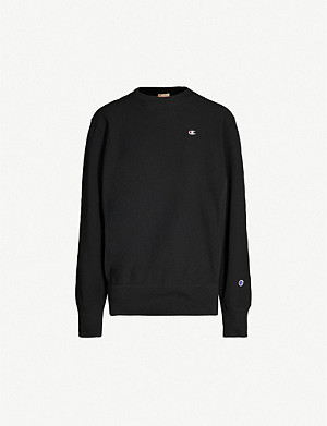 CHAMPION Mini logo-embroidered cotton-jersey sweatshirt