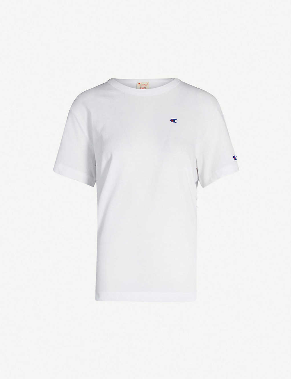 CHAMPION: Logo-embroidered cotton-jersey T-shirt