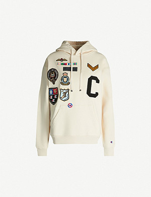 CHAMPION Logo-patch stretch-cotton hoody