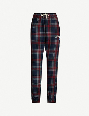 CHAMPION Champion x Clothsurgeon checked wool-blend jogging bottoms