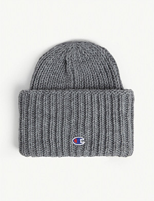 CHAMPION Rib-knit wool-blend beanie