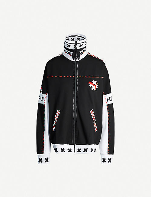 PUMA X JAHNKOY Puma x Jahnkoy embroidered stretch-jersey jacket